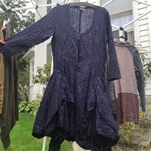 Short flouncy purple dress